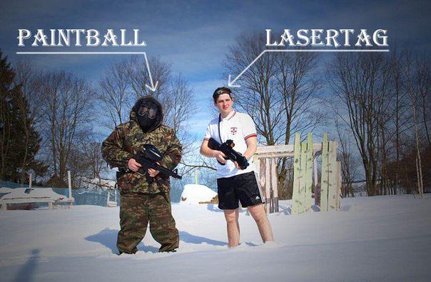Пейнтбол и лазертаг